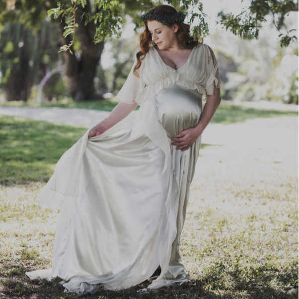 pregnancy gown_maternity dress-pregnancy dress